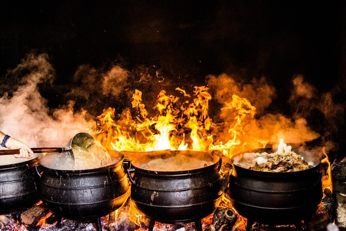 food preparation in Africa